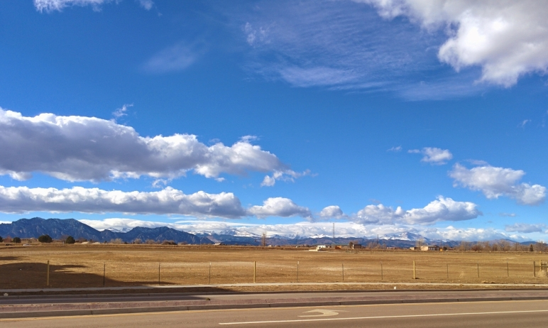 Colorado mountain skyline